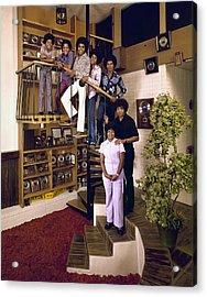 The Jackson Five & Their Parents Acrylic Print by John Olson