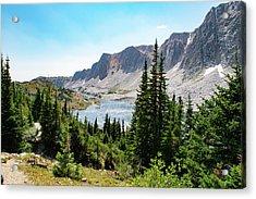 The Lakes Of Medicine Bow Peak Acrylic Print
