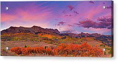 The Last Light Of September Acrylic Print