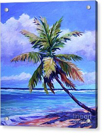 The Leaning Palm Acrylic Print