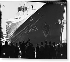 The Liner Normandie Docked Acrylic Print