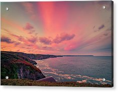 The Lizard Point Sunset Acrylic Print