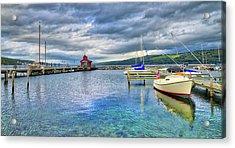Acrylic Print featuring the photograph The Marina At Seneca Lake - Finger Lakes, New York by Lynn Bauer