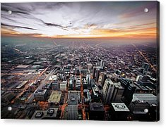 The Metropolis Looking West Acrylic Print by By Ken Ilio