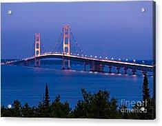 The Mighty Mackinac Bridge, Connecting Acrylic Print