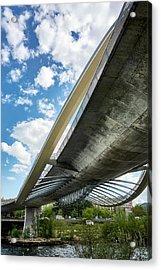 The Millennium Bridge From Below Acrylic Print