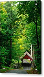The New Hampshire Covered Bridge 39 Acrylic Print by Mark Newman