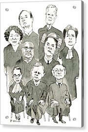 The New Supreme Court Acrylic Print by Barry Blitt