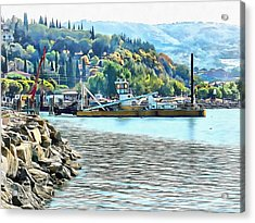 Acrylic Print featuring the photograph The Old Dredger by Dorothy Berry-Lound