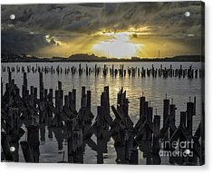 The Old Pier At Sunset Acrylic Print