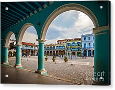 The Old Square Or Plaza Vieja From The Acrylic Print
