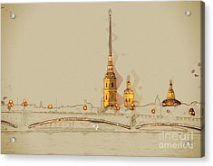 The Peter And Paul Fortress, Saint Acrylic Print