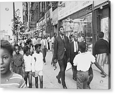 The Pied Piper Of Harlem, Cassius Clay Acrylic Print by New York Daily News Archive