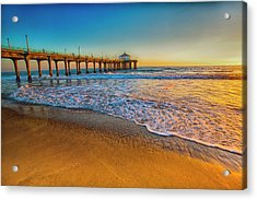 The Pier At Sunset Acrylic Print by Fernando Margolles