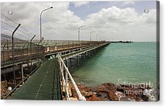 The Port Of Broome With A Mesh  Walk Acrylic Print