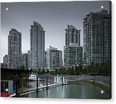 The Quayside Marina - Yaletown Apartments Vancouver Acrylic Print