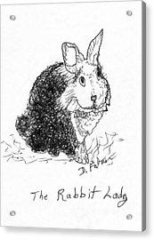The Rabbit Lady Drawing Acrylic Print