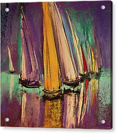 Acrylic Print featuring the pastel The Race by David Patterson