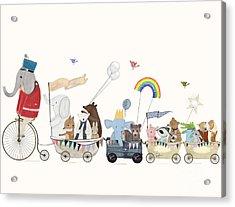 The Rainbow Parade Acrylic Print by Bri Buckley