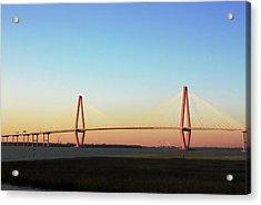 The Ravenel Bridge At The Golden Hour Acrylic Print