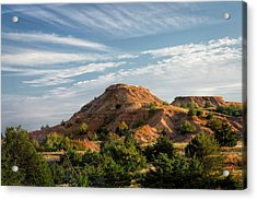 Acrylic Print featuring the photograph The Red Hills by Scott Bean