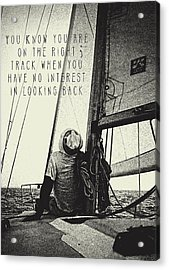 The Right Track Acrylic Print