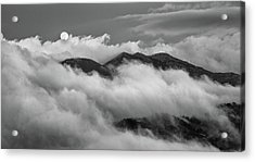 Acrylic Print featuring the photograph The Rising Of Full Moon by Michalakis Ppalis