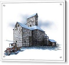 The Ross Elevator Winter Acrylic Print
