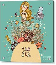 The Sea âBright Cartoon Card Acrylic Print