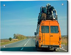 The Small Bus With Bags On A Roof Acrylic Print