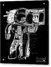 The Symbolic Image Of The Astronaut Who Acrylic Print