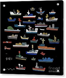 The Symbolic Image Of The Ships On A Acrylic Print