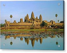 The Temple Of Angkor Wat, Angkor, Siem Acrylic Print