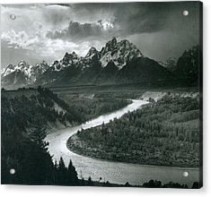 The Tetons - Snake River Acrylic Print
