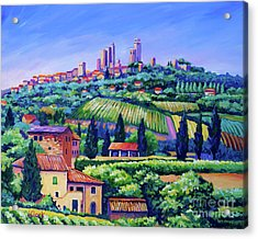 The Towers Of San Gimignano Acrylic Print