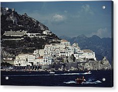 The Town Of Amalfi Acrylic Print by Slim Aarons