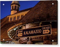 The Train Station In Kalamazoo Acrylic Print