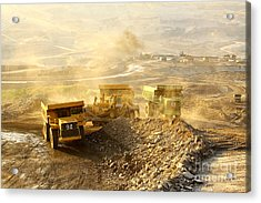 The  Trucks At Worksite Acrylic Print