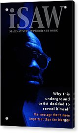 Acrylic Print featuring the digital art The Underground Artist by ISAW Company