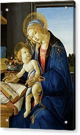 The Virgin And Child, The Madonna Of The Book Acrylic Print