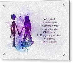The Wedding Vows Acrylic Print