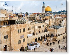 The Western Wall,temple Mount Acrylic Print
