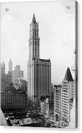 The Woolworth Building On Broadway Acrylic Print by Fpg
