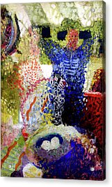 Acrylic Print featuring the painting The Word Was Made Flesh The Egg And I by Amzie Adams