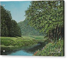 The Wye River Of Wales Acrylic Print