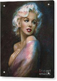 Theo's Marilyn Ww Blue Acrylic Print