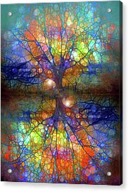 There Is Light Even In These Dark Roots Acrylic Print