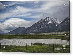There's A Storm Across The Valley Acrylic Print
