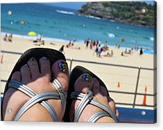 Thongs On Bondi 2 Acrylic Print
