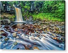 Thornton Force Waterfall Acrylic Print by David Ross